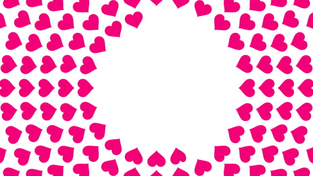 pink heart symbol spiral circle pattern paper flip loop animation 4k on white background - valentines day stock videos and b-roll footage