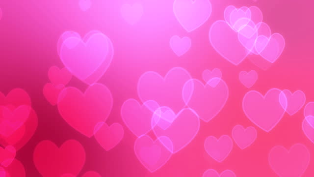 Pink Hearts Background video