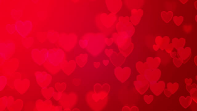 Pink hearts valentine's day background Valentine's day abstract background, Seamless loop levitation stock videos & royalty-free footage