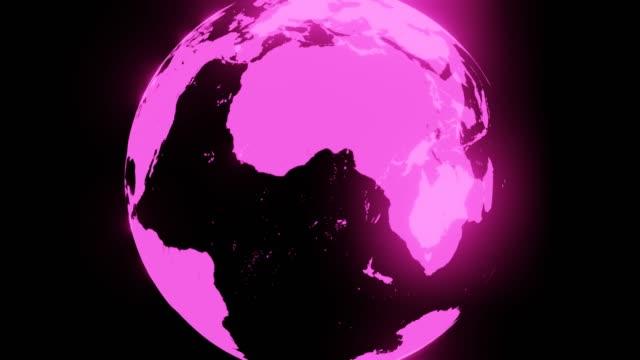 Roze holografische bol op zwarte achtergrond. Loopable achtergrond. video