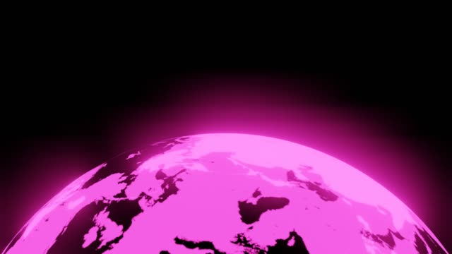 Roze holografische bol op zwarte achtergrond. video