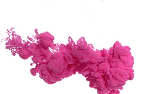 rosa bläck i vatten - akrylmålning bildbanksvideor och videomaterial från bakom kulisserna