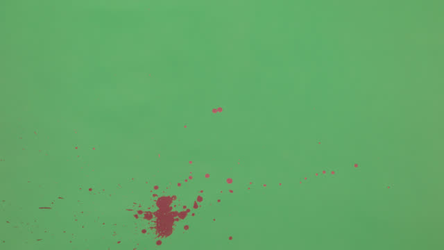 Pink Ink Splatter Over Green Screen Background video