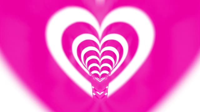 Pink Looped Heart Corridor For Mother's Day Concept