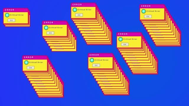 ピンクマゼンタメッセージエラーポップアップ通知。ダイアログ ボックス ウイルスが警告を検出しました。システム セキュリティの警告。コンピュータハッキング。マルウェアが検出, デ� - ウイルス対策ソフト点の映像素材/bロール