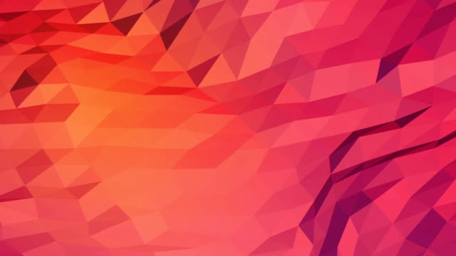 pink orange and red creative shining geometric triangular background animation in origami style with gradient as a pattern for your business design. - rosa rossa video stock e b–roll