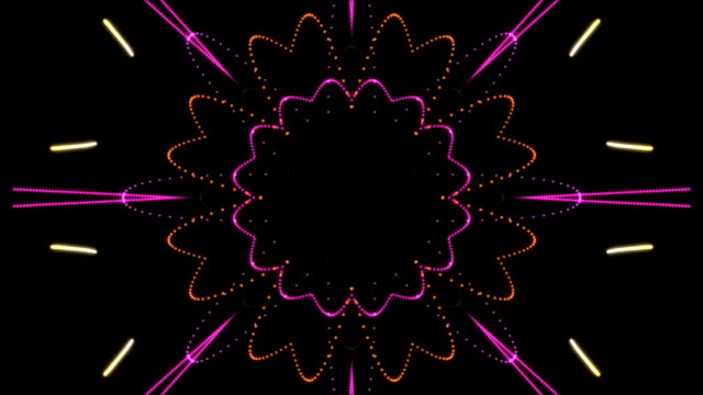 Pink Orange & Purple Kaleidoscopic Loop video