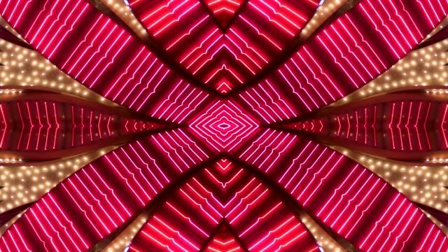 pink & red neon marquee - las vegas, nevada - las vegas video stock e b–roll