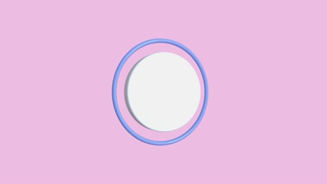 pink scene geometric circle shape abstract motion graphic 3d render video