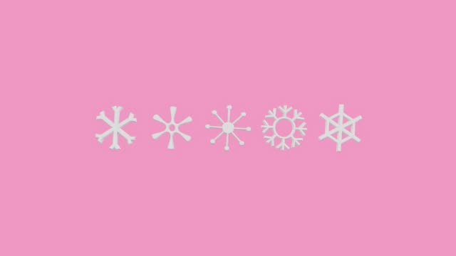 pink scene weather icon symbol cartoon style 3d rendering motion video