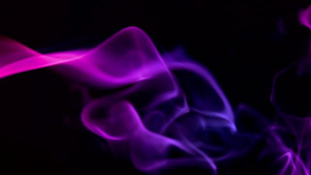 Pink smoke, slow motion video
