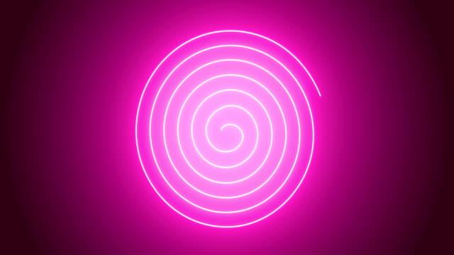 animazione a spirale rosa 4k - spirale ricciolo video stock e b–roll