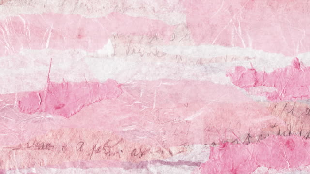 Pink torn paper loop - Romance background video