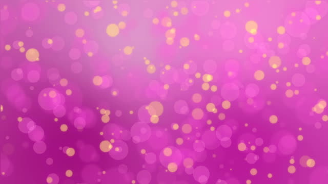 Pink yellow bokeh lights background video