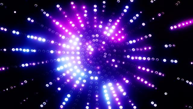 Pink-blue animated round led background