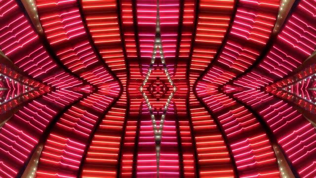 rosa/rosso, cornice al neon di las vegas, nevada - nevada video stock e b–roll
