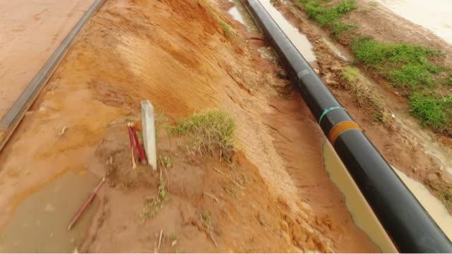 Pipeline aerial Pipeline aerial gas pipe stock videos & royalty-free footage
