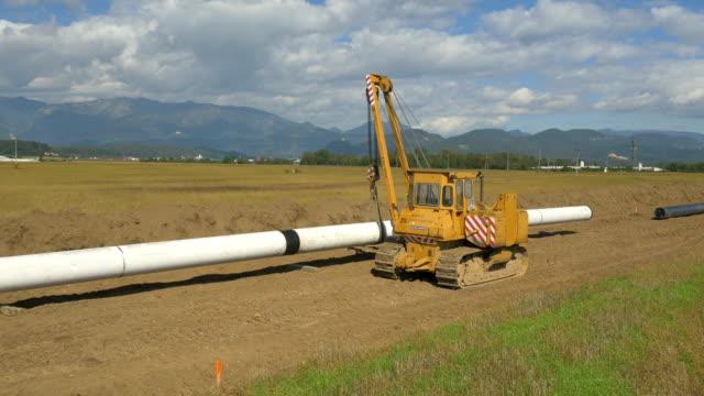 aerial: pipeline construction - pipeline bildbanksvideor och videomaterial från bakom kulisserna