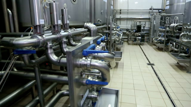 Pipeline in a modern dairy factory