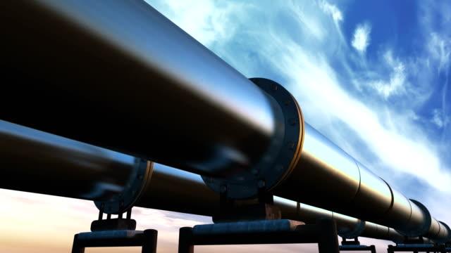 rörledningarna slinga perspektiv spårning, blå moln - pipeline bildbanksvideor och videomaterial från bakom kulisserna