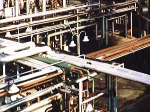 Pipes and reservoirs close up video