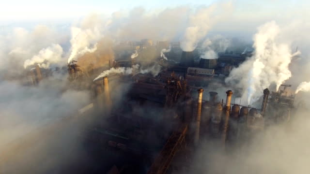 Pipes of the plant in the city of Mariupol. Ukraine