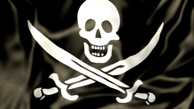 Pirate Flag waving video