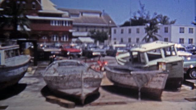1971: Pirate's Alley Shop and Southern-most point in the USA with conch shell dealers. video
