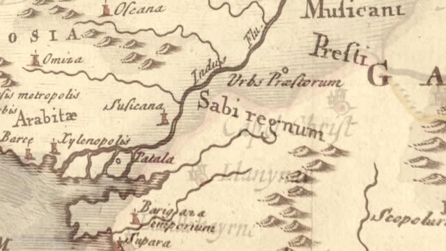 pirates antique map and compass rose - map oceans bildbanksvideor och videomaterial från bakom kulisserna
