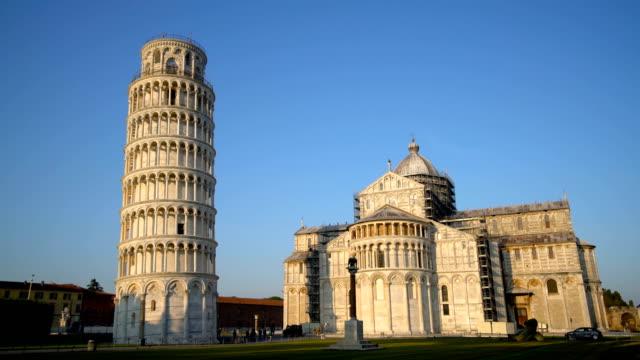 piza pisa kulesi, italya - pisa kulesi stok videoları ve detay görüntü çekimi
