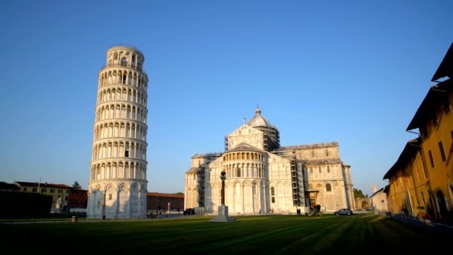 pisa leaning tower, i̇talya - pisa kulesi stok videoları ve detay görüntü çekimi