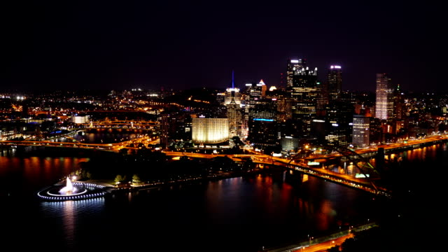 Pittsburgh Dusk to Night Timelapse video