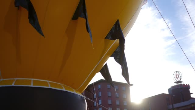 Pittsburgh large inflated balloon blimp for a celebration video