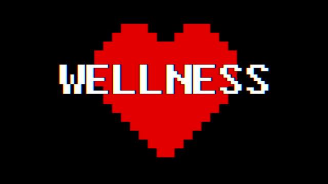 pixel cuore benessere - full hd format video stock e b–roll