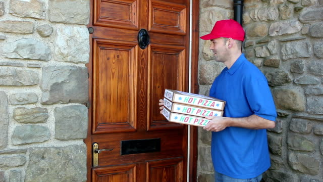 Pizza Delivery - Outside House video
