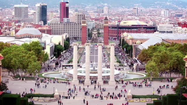 Plaça d'Espanya, Barcelona, Spain video