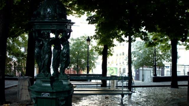 場所=エミール goudeau パリで - ベンチ点の映像素材/bロール