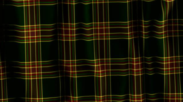 Plaid Tartan Scottish Material Original design plaid or tartan material moving. Scottish or Celtic themes. Maybe a kilt. plaid stock videos & royalty-free footage