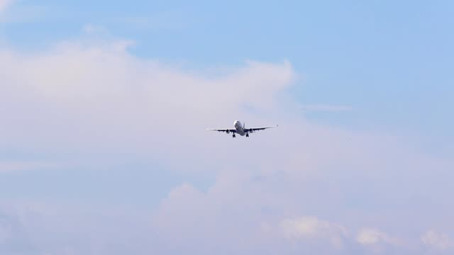 plane approaching for landing to airport