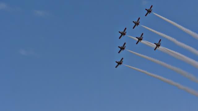 Plane Fleet formation pass over