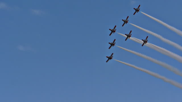 Plane Fleet formation pass over video