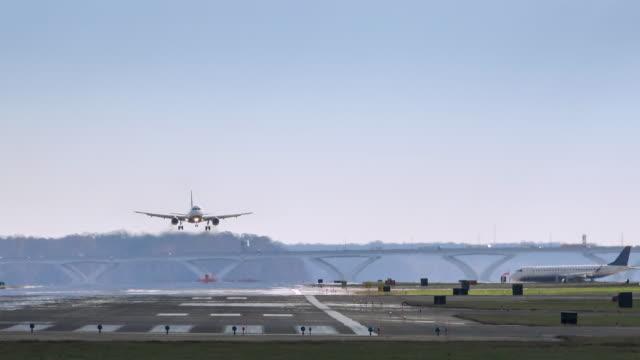 Plane Landing at Reagan National Airport video