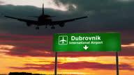istock Plane landing in Dubrovnik Croatia airport 1311074969