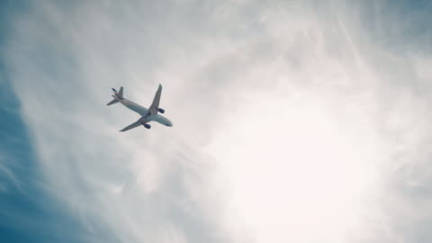 Plane landing on airport Plane on approach for a landing at an airport. flying stock videos & royalty-free footage