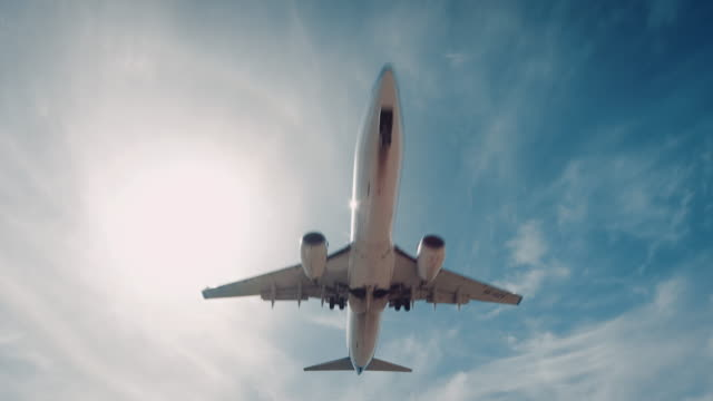 Plane landing on airport Plane on approach for a landing at an airport. plane stock videos & royalty-free footage