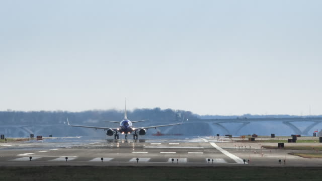 Plane Taking off at Reagan National Airport video