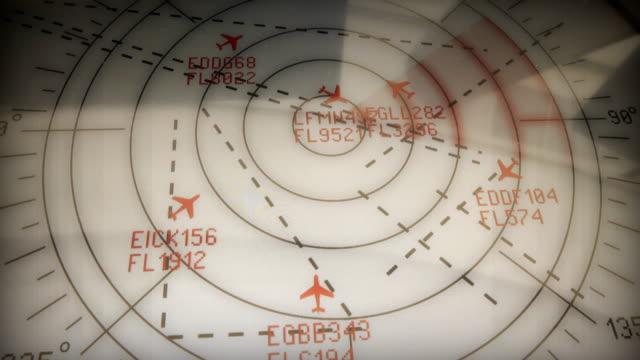 vídeos de stock e filmes b-roll de planes radarview - controlo
