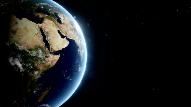 vídeos de stock, filmes e b-roll de planeta terra animação 3d - civilização milenar