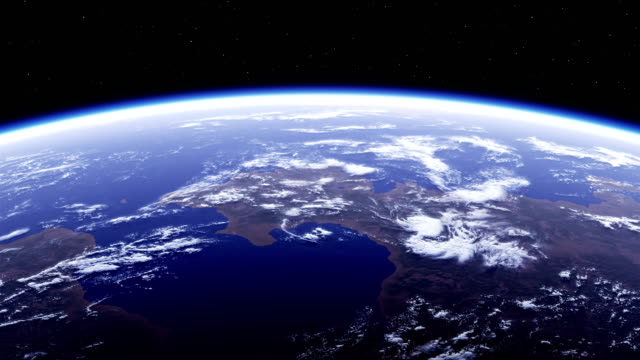 4K. Planet Earth. Amazing View From Space. Ultra High Definition. 3840x2160. Seamless Looped.