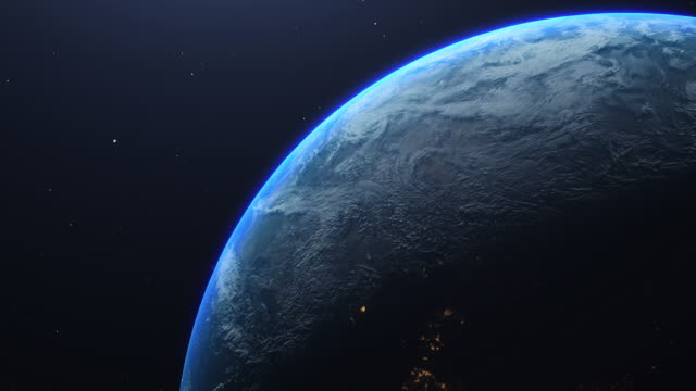 planet earth amazing view from space - blickwinkel der aufnahme stock-videos und b-roll-filmmaterial
